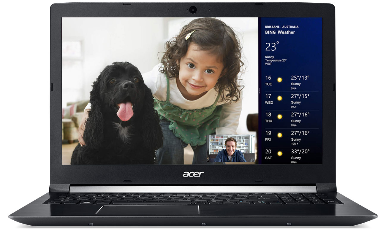 Acer Aspire 7 Certyfikowana kamera