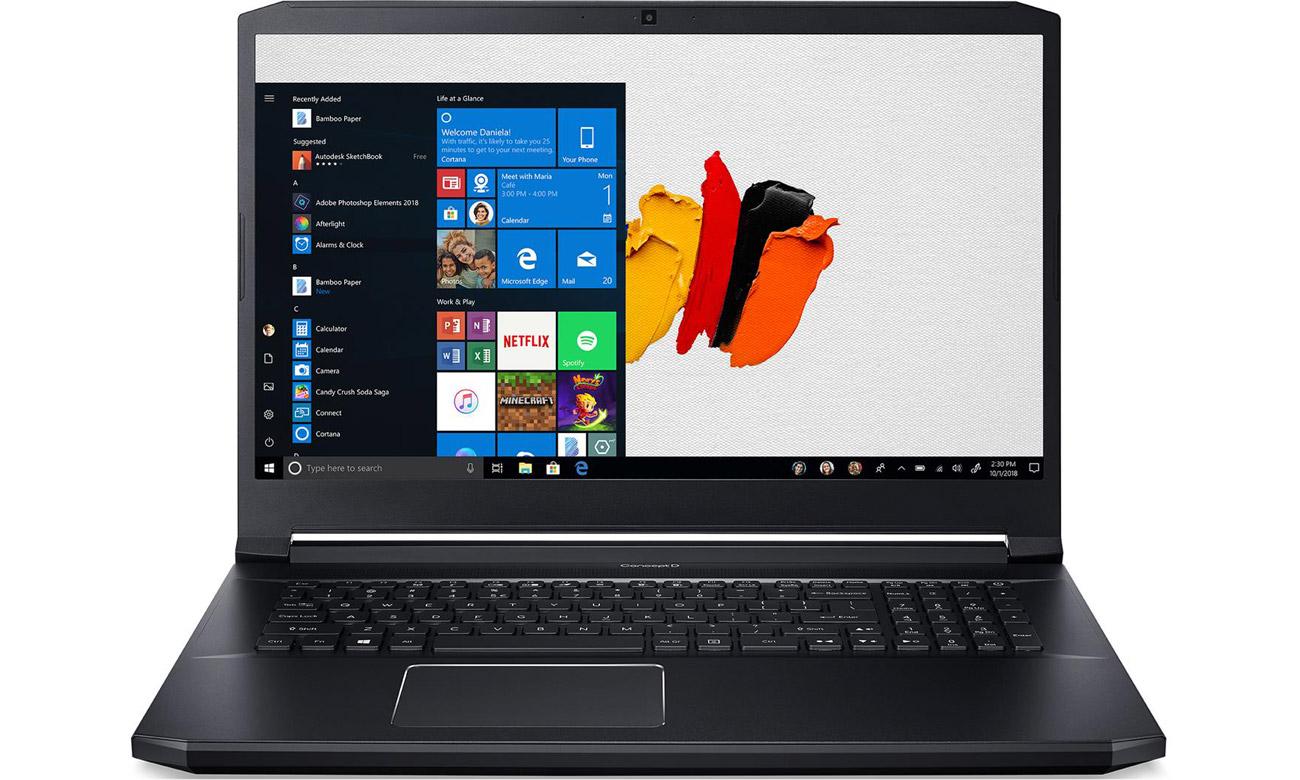 Ekran o rozdzielczości 4K w Acer ConceptD 5