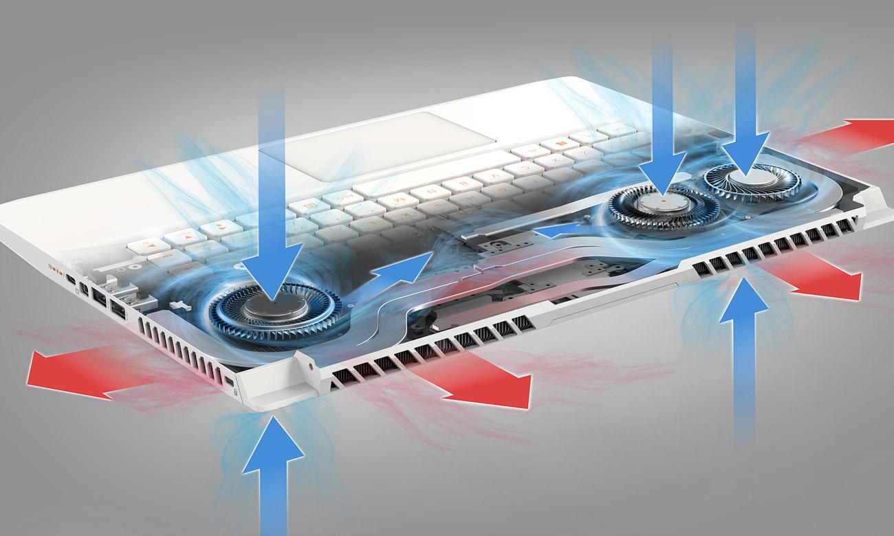 Świetne chłodzenie technologia Vortex Flow