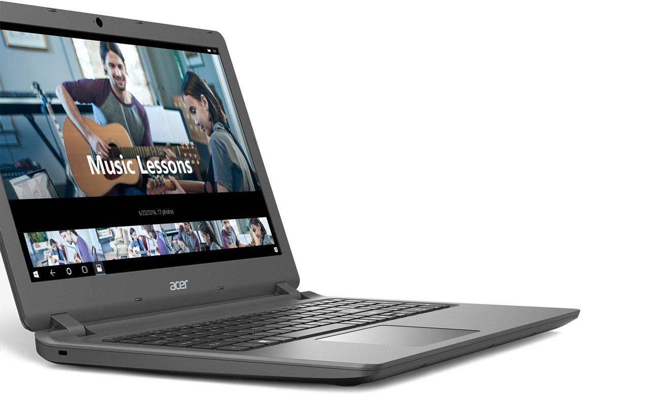 Acer Extensa 2540 Smukła konstrukcja, Długi czas pracy na baterii