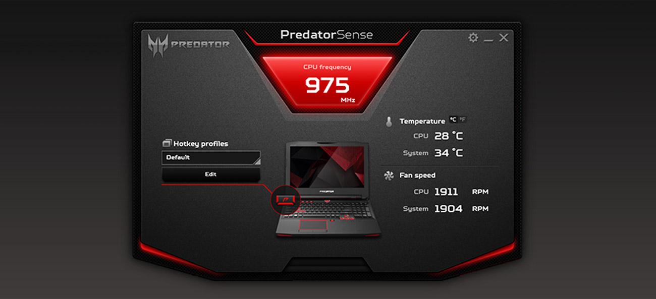 Acer G9-593 PredatorSense