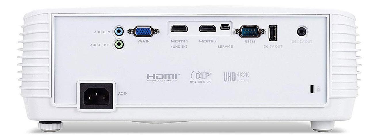 Acer H6810 widok z tylu porty