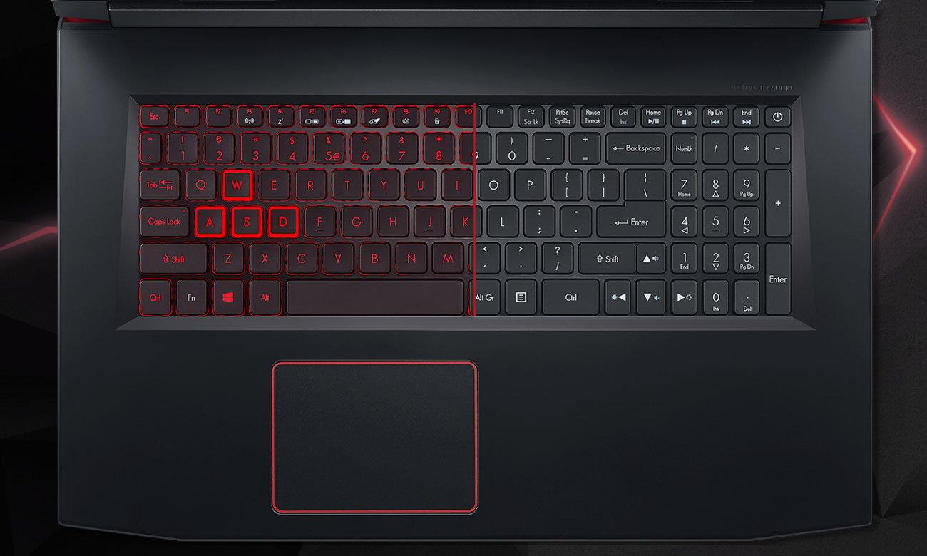 Laptop Acer Helios 300 podświetlana klawiatura