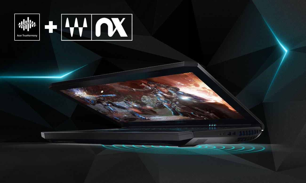 Acer Predator Helios 500 Dwa głośniki, Subwoofer, Acer TrueHarmony, Waves Nx, MaxxAudio