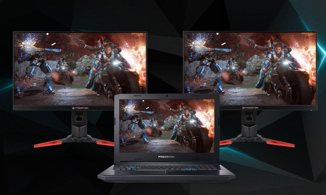 Acer Predator Helios 500 Obsługa do 3 wyświetlaczy