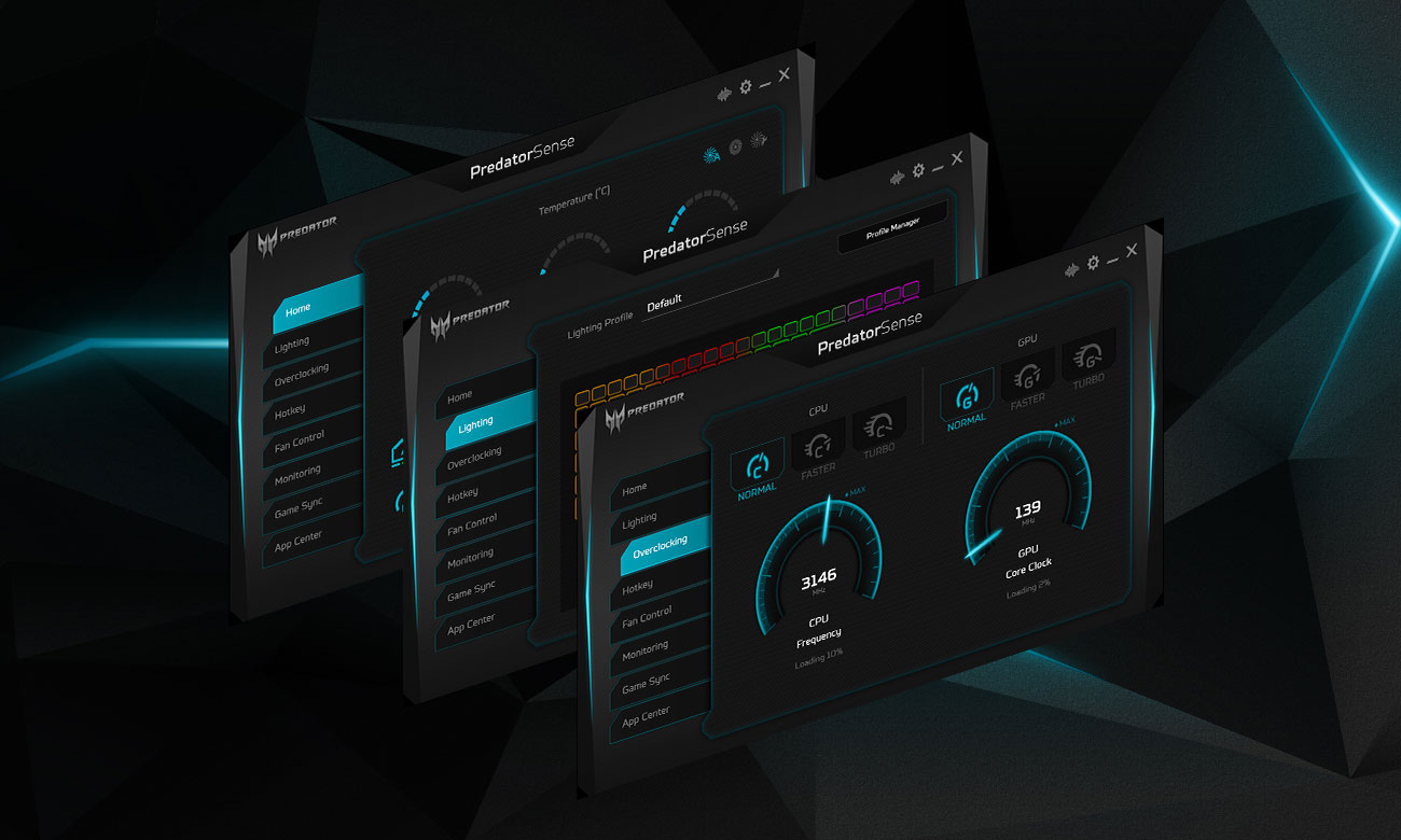 Acer Predator Helios 500 oprogramowanie PredatorSense
