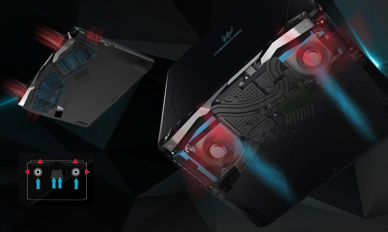 Acer Predator Helios 500 chłodzenie AeroBlade 3D Fan