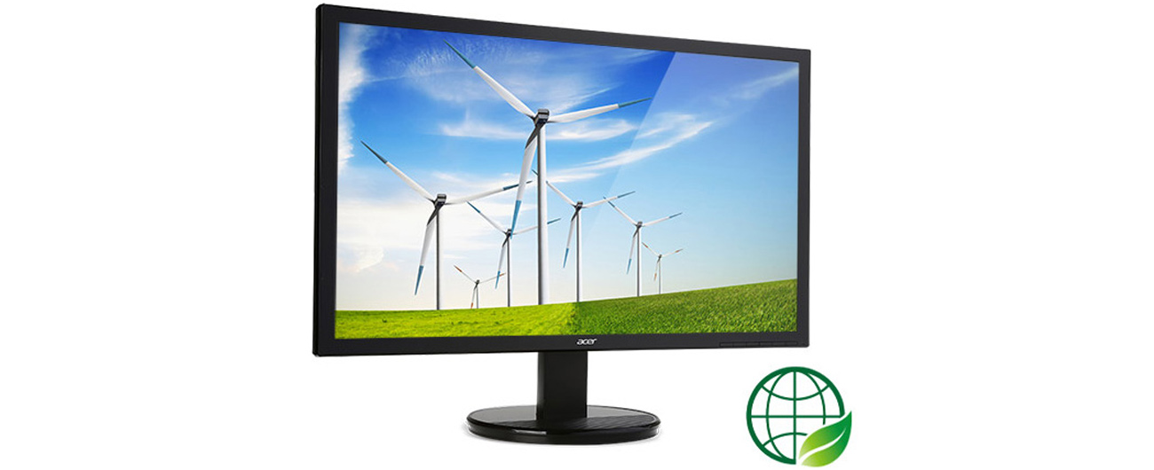 Acer K222HQLBID monitor przyjazny dla środowiska