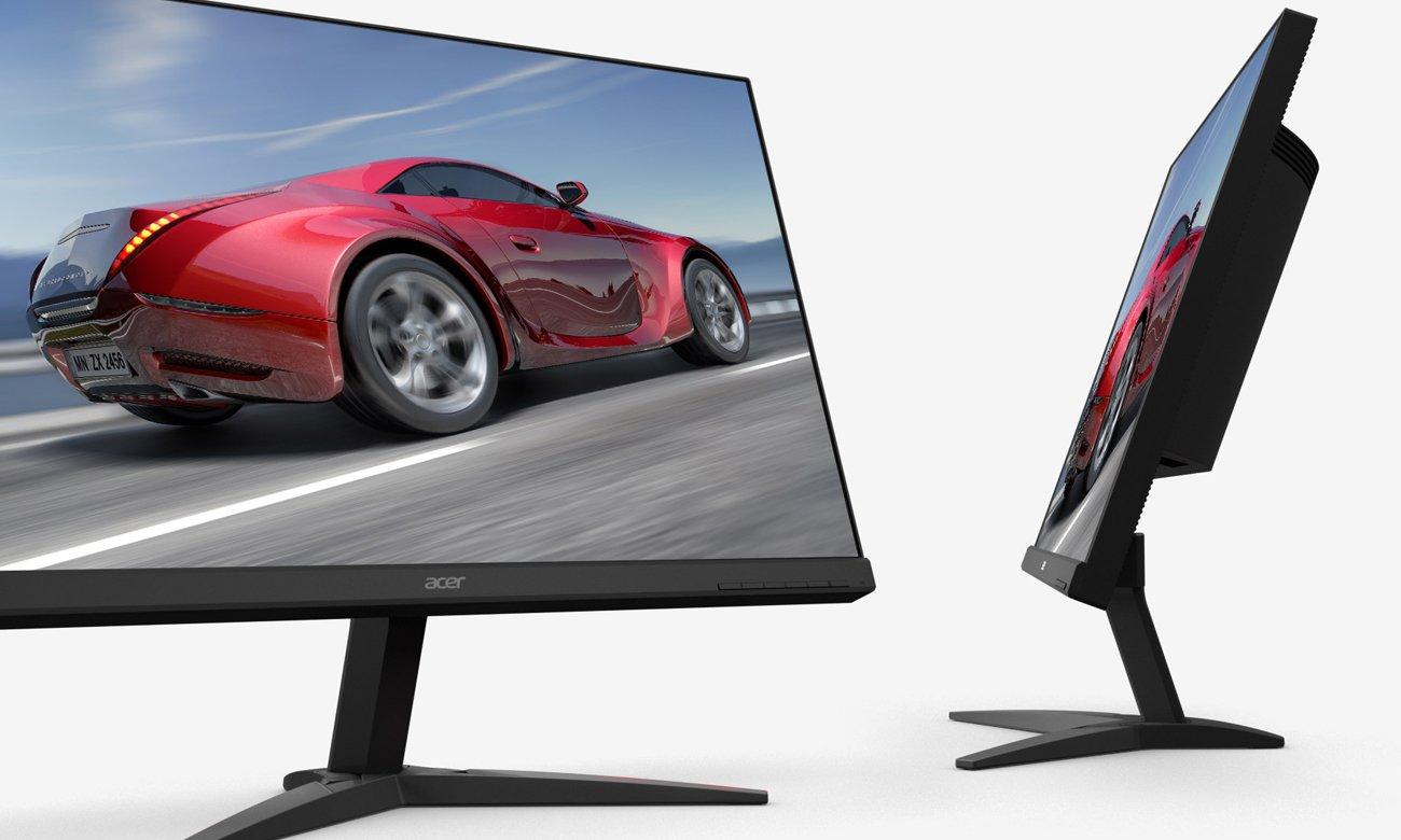Acer KG281KBMIIPX konstrukcja zeroframe kształt