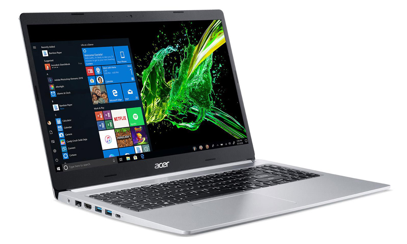 Тонкий ноутбук Acer Aspire 5 стильный корпус