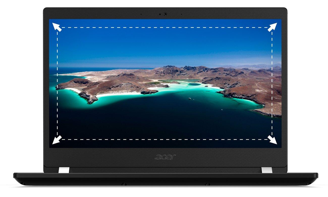 Acer TravelMate X3  szerokie pole widzenia