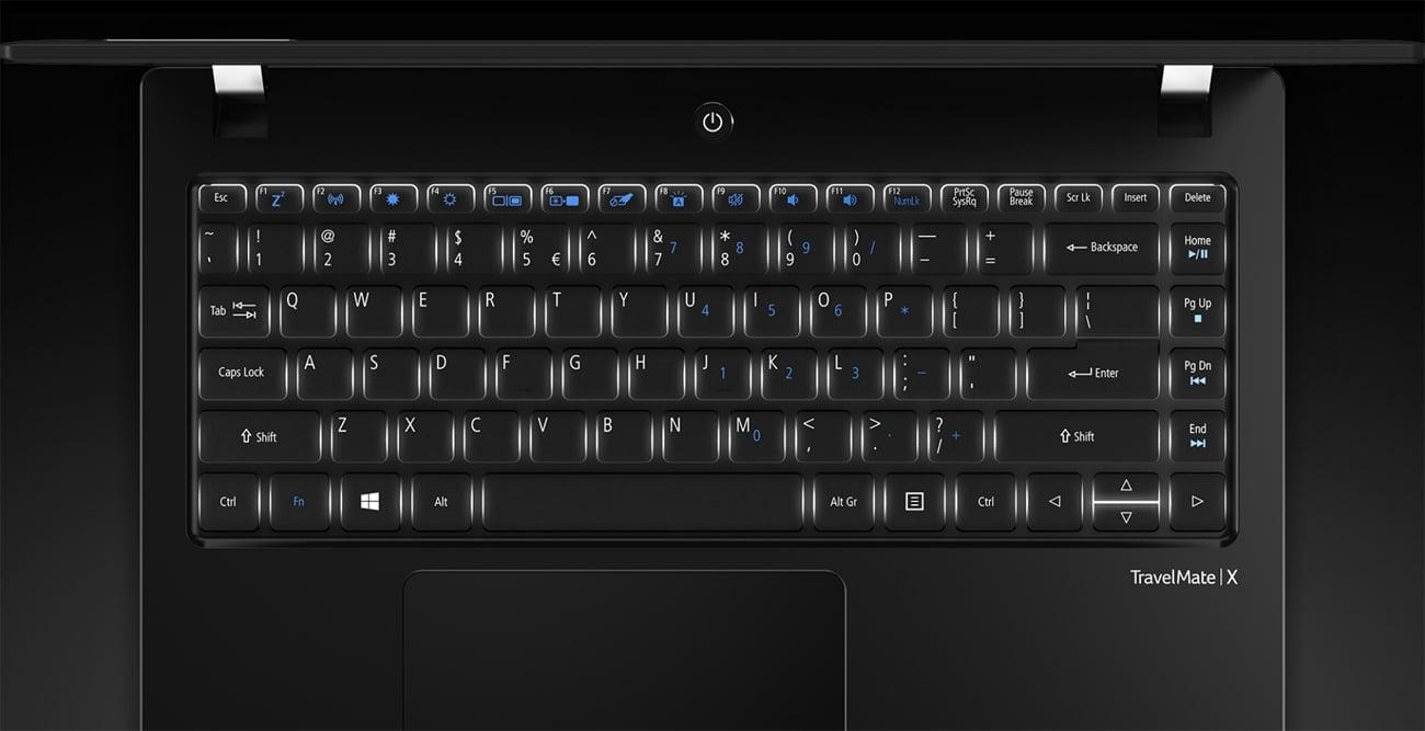 Acer TravelMate X3  podświetlana klawiatura