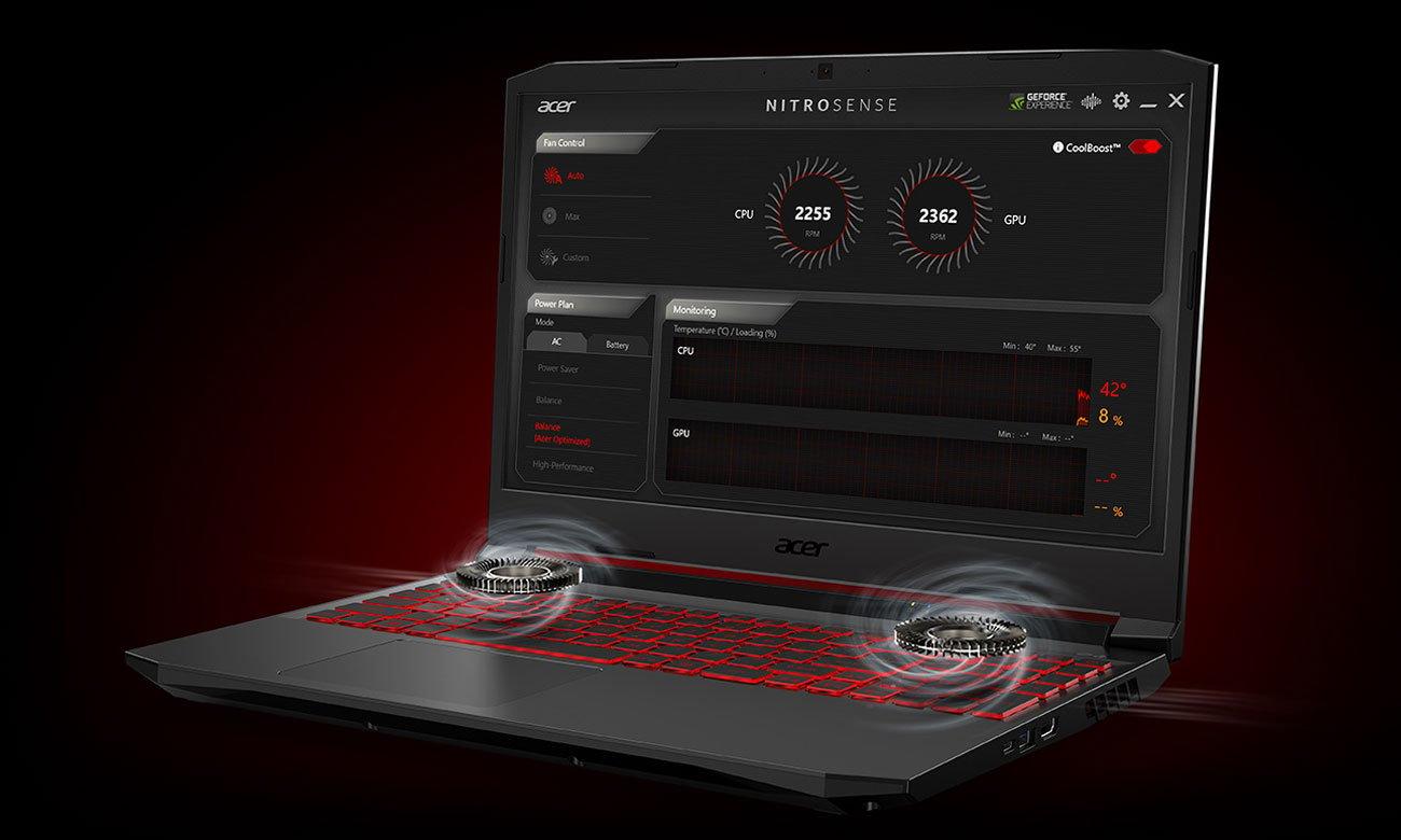Acer Nitro 5 chłodzenie