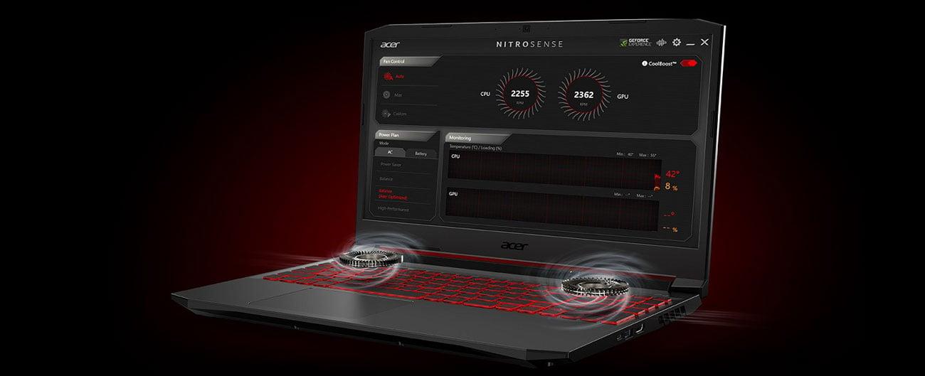 Laptop gamingowy Acer Nitro 5 chłodzenie