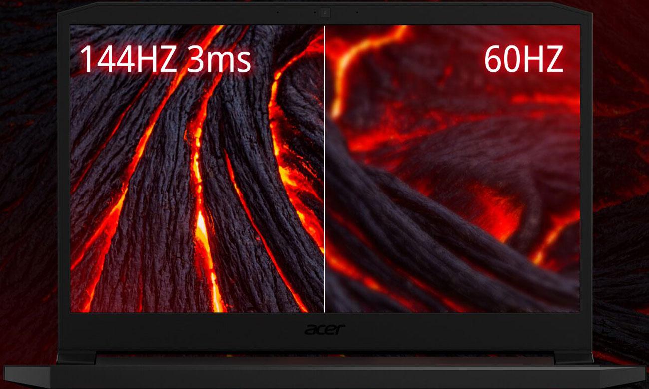 odświeżanie 144 Hz czasreakcji 3 ms Overdrive