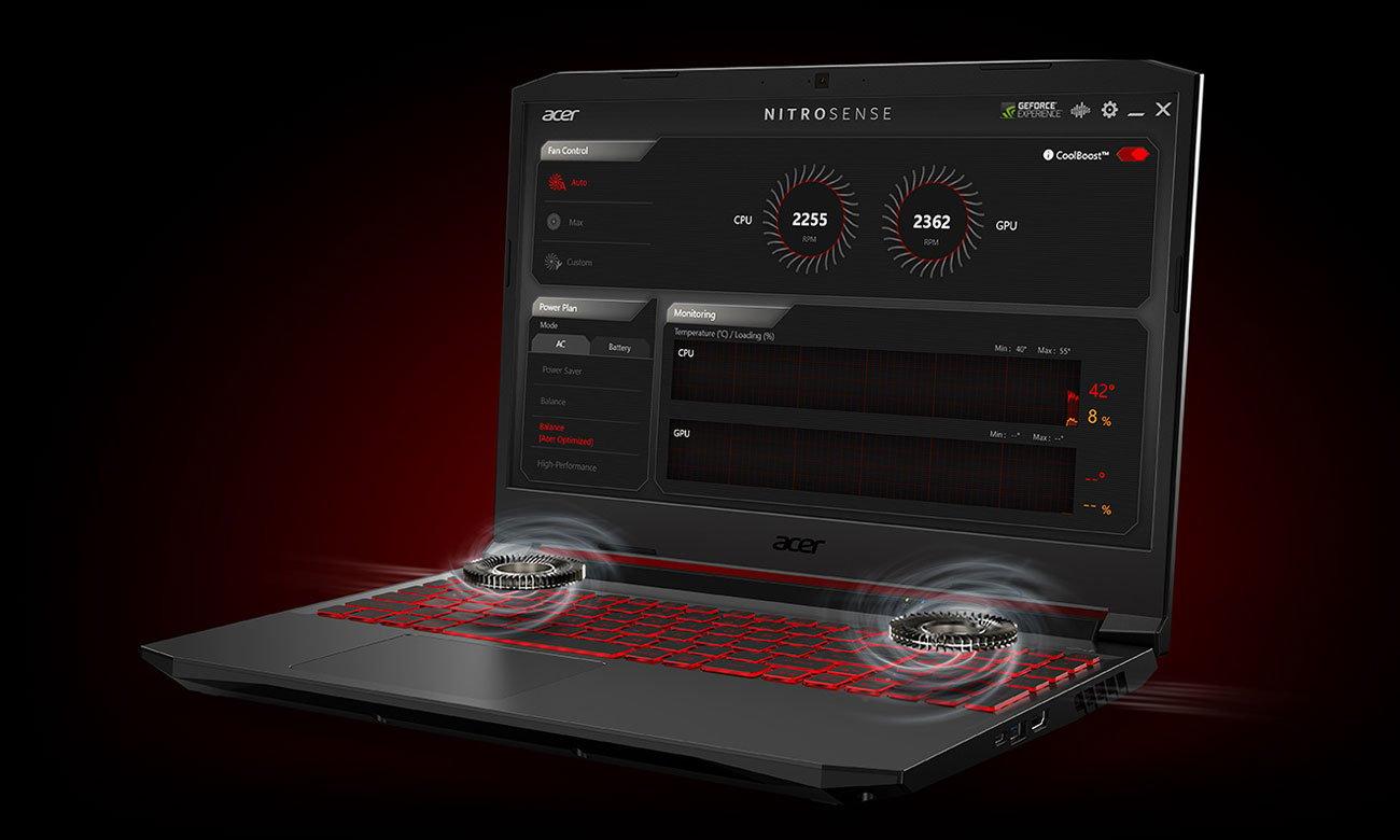 Acer Nitro 5 Chłodzenie CoolBoost