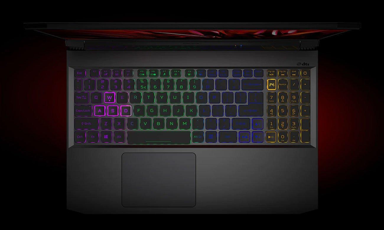 Acer Nitro 5 klawiatura RGB