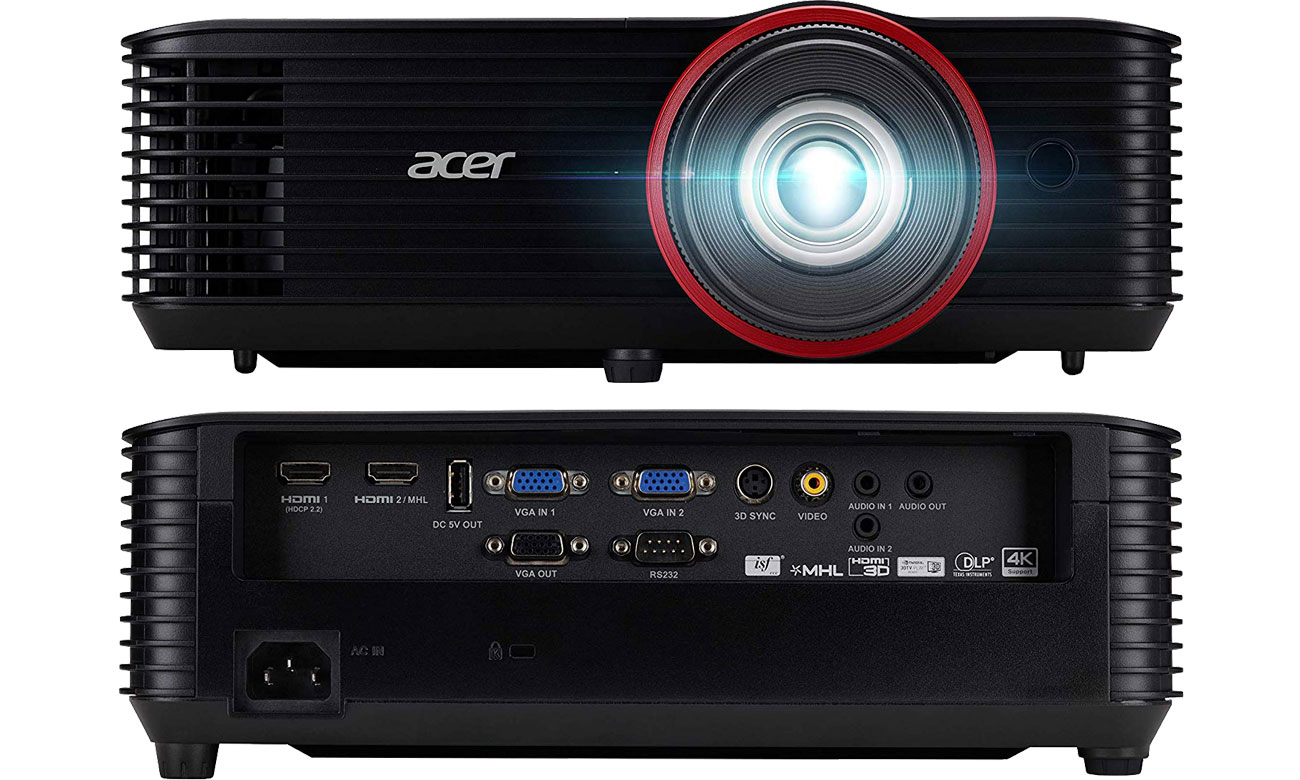 Acer Nitro G550 - Спереди, сзади, разъемы