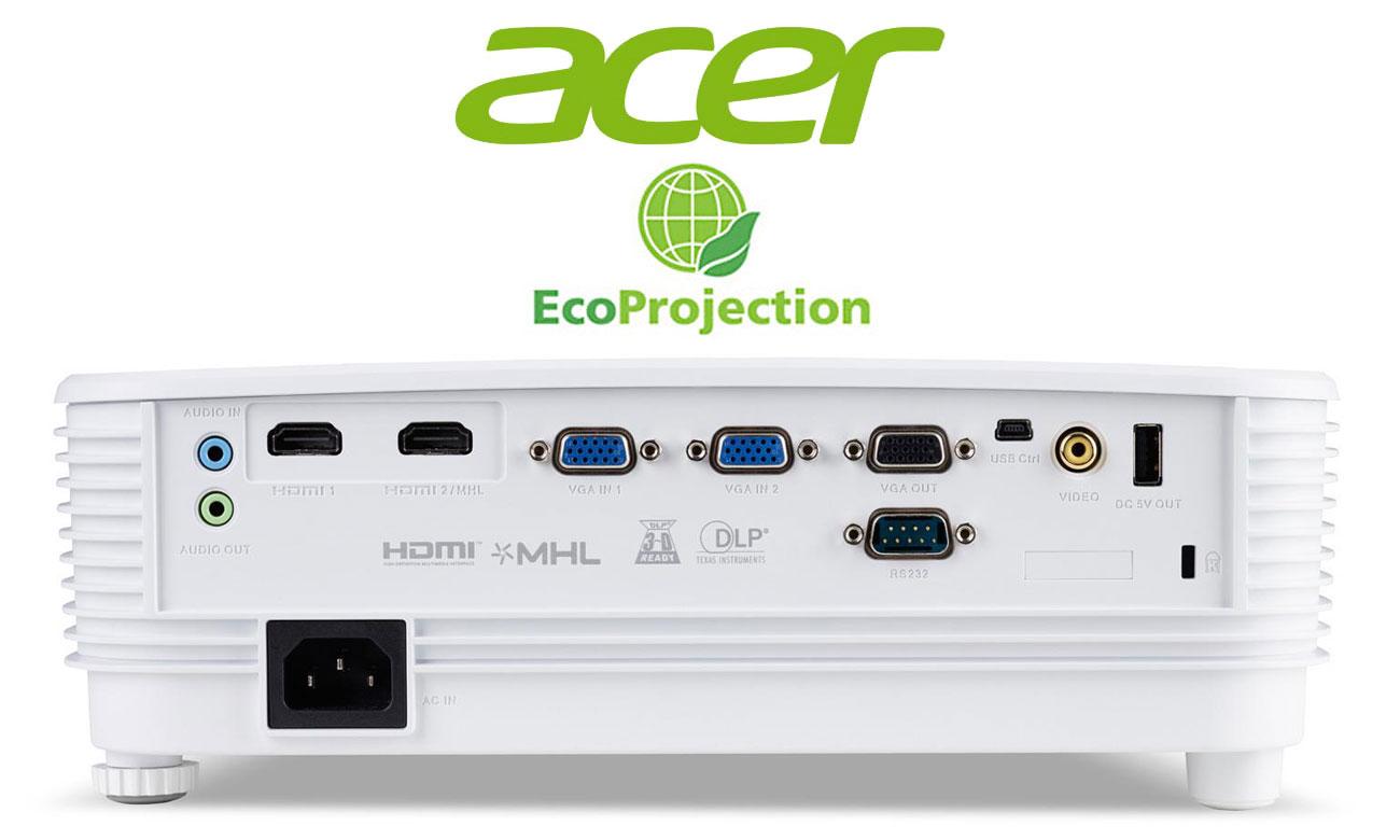 Acer P1250B DLP Niski wpływ na środowisko