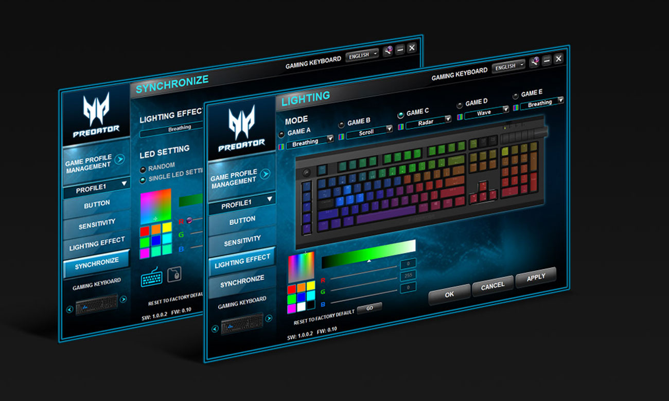 Acer Predator Aethon 500 Podświetlenie