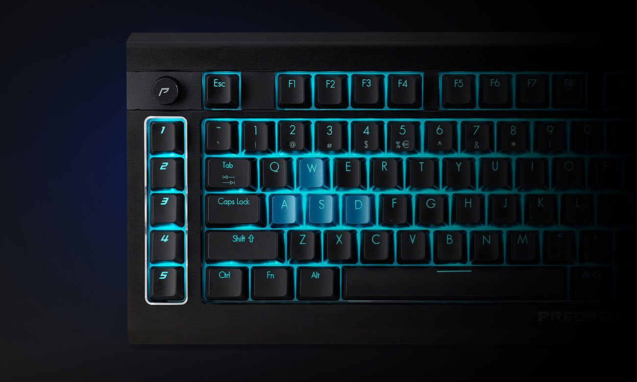Acer Predator Aethon 500 Klawisze Makr