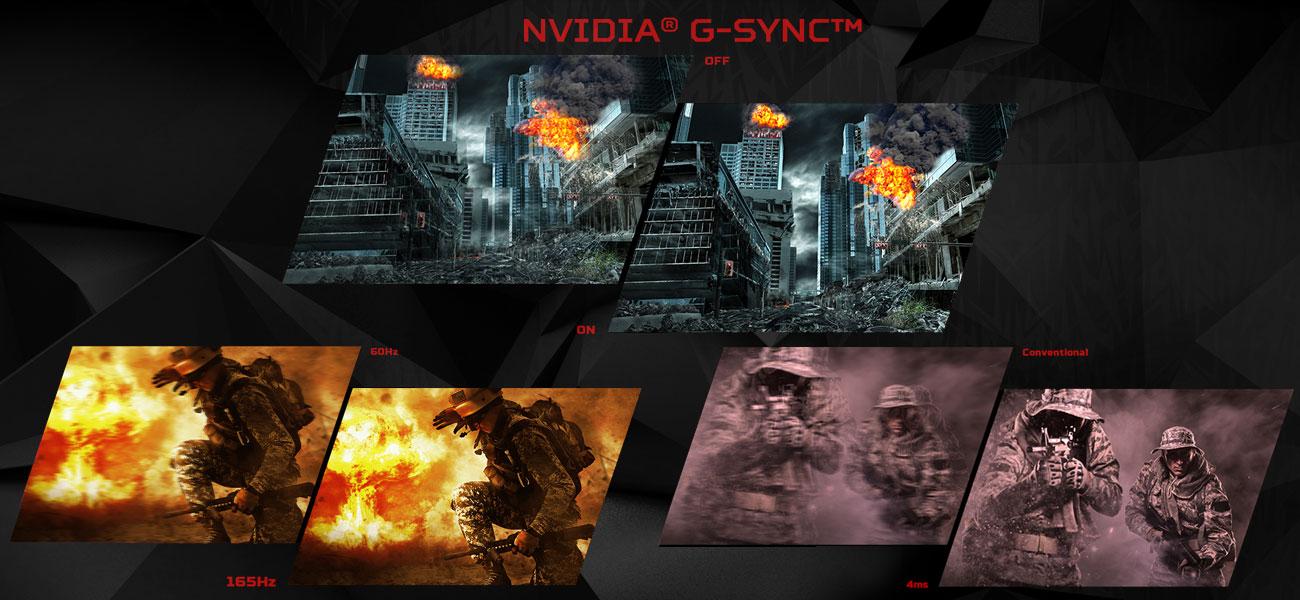 Acer Predator Z321QU NVIDIA G-SYNC, krótki czas reakcji i odświeżania
