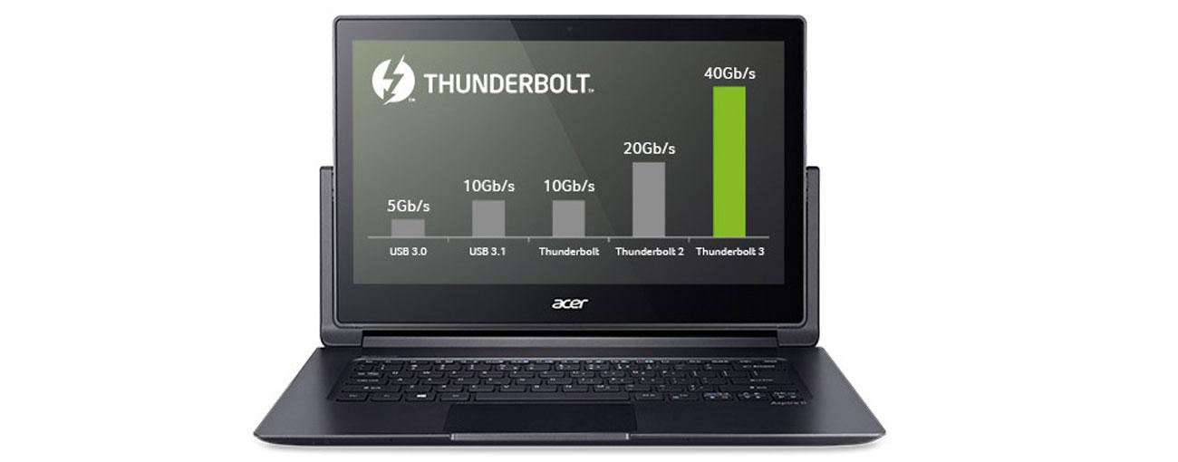 Ultrabook Acer R7-372T port złącza usb 3.0 hdmi thunderbolt