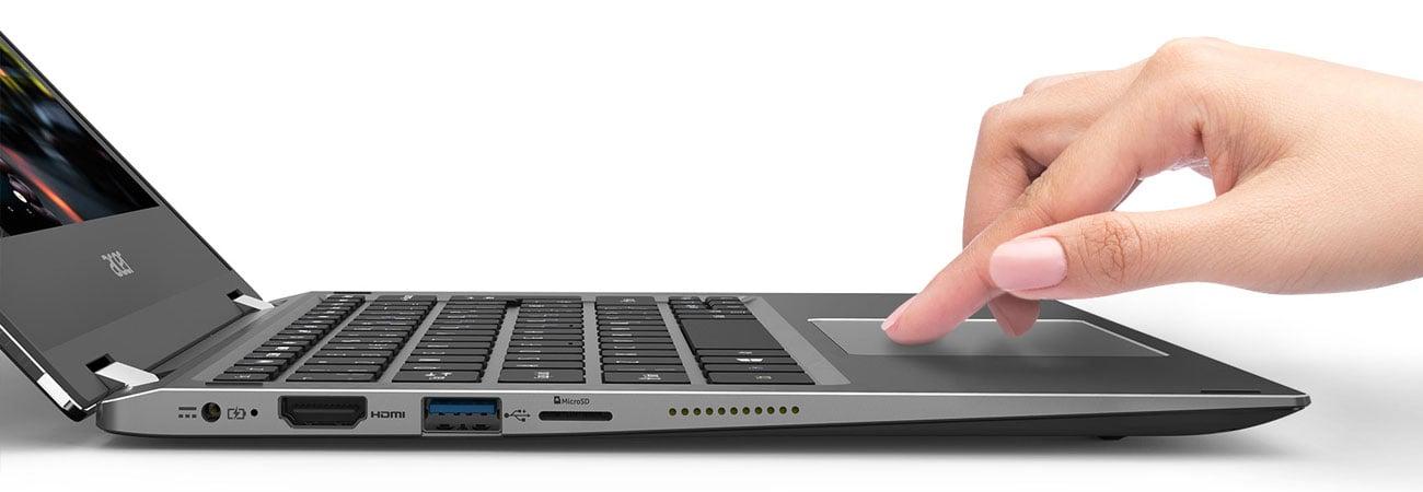 Acer Spin 1 Precyzja dotyku na touchpadzie