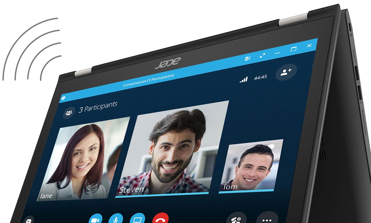 Acer Spin 3 Cortana z obsługą głosu i Skype for Business