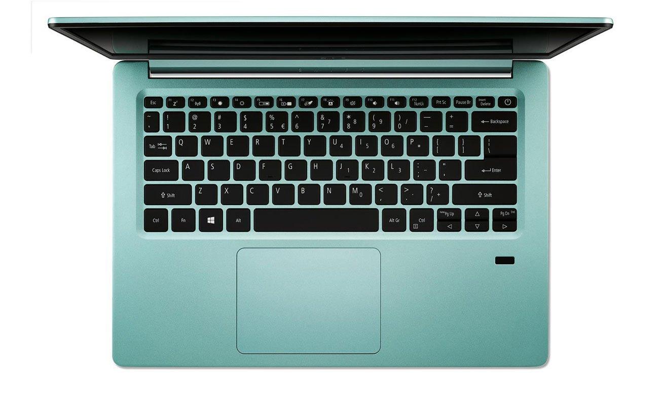 Acer Swift 1 Wbudowany czytnik linii papilarnych