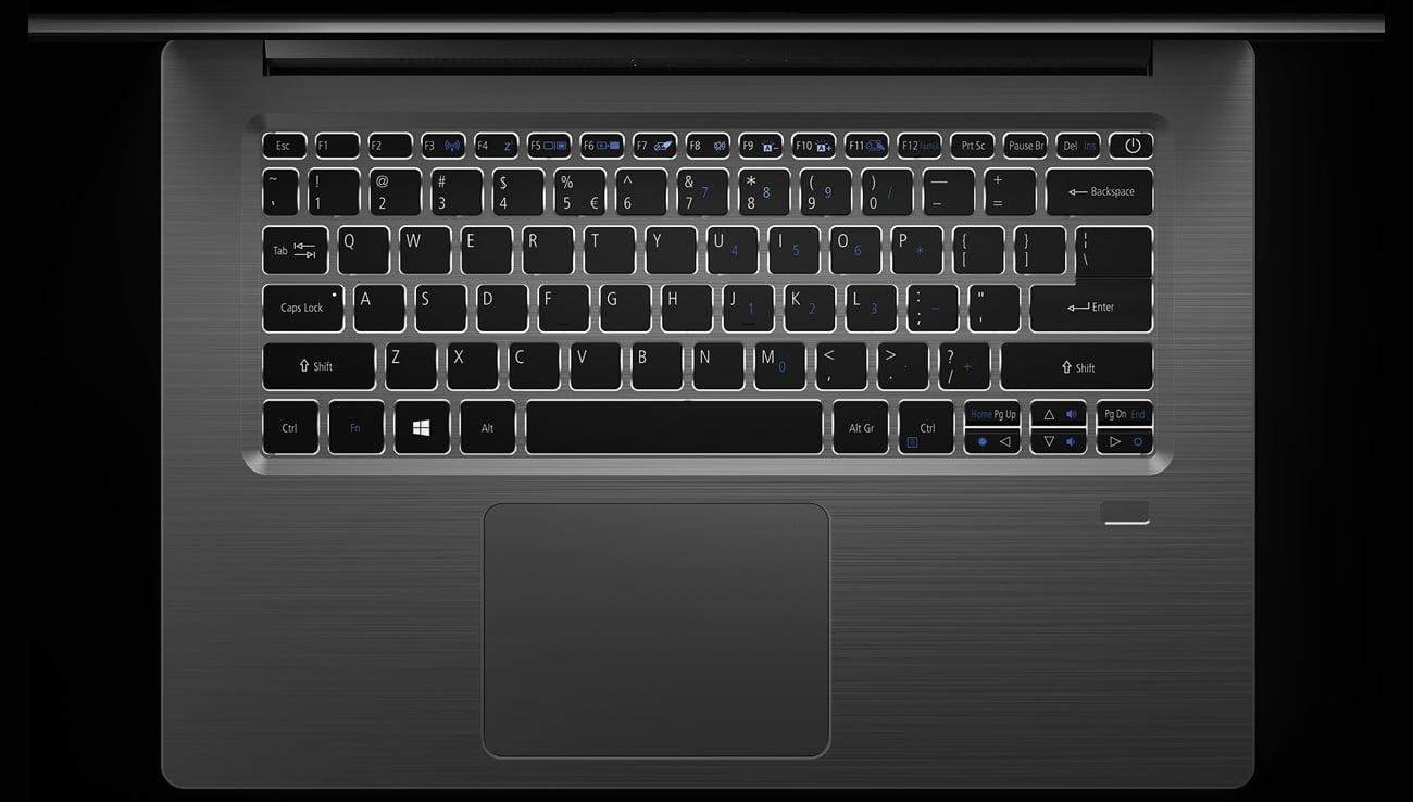 Acer Swift 3 laptop z podświetlaną klawaiturą