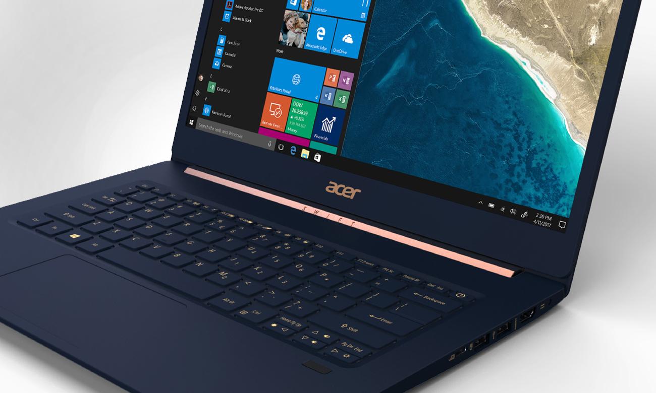 Acer Swift 5 podświetlana klawiatura
