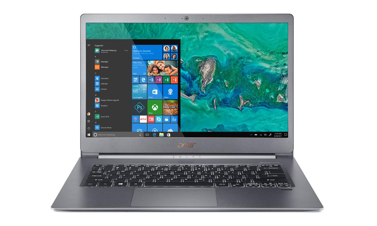 Acer Swift 5 czytnik linii papilarnych
