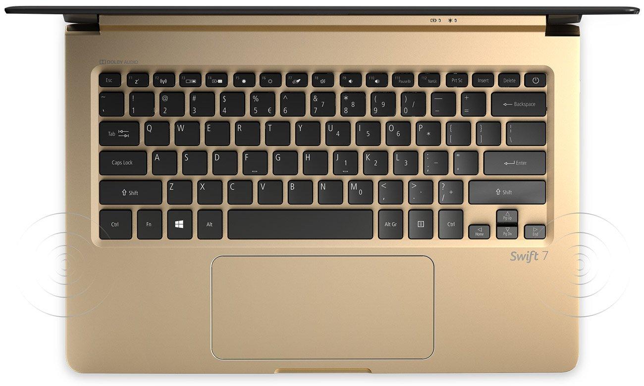 Acer Swift 7 Technologie Dolby AudioTM Premium i Acer TrueHarmonyTM