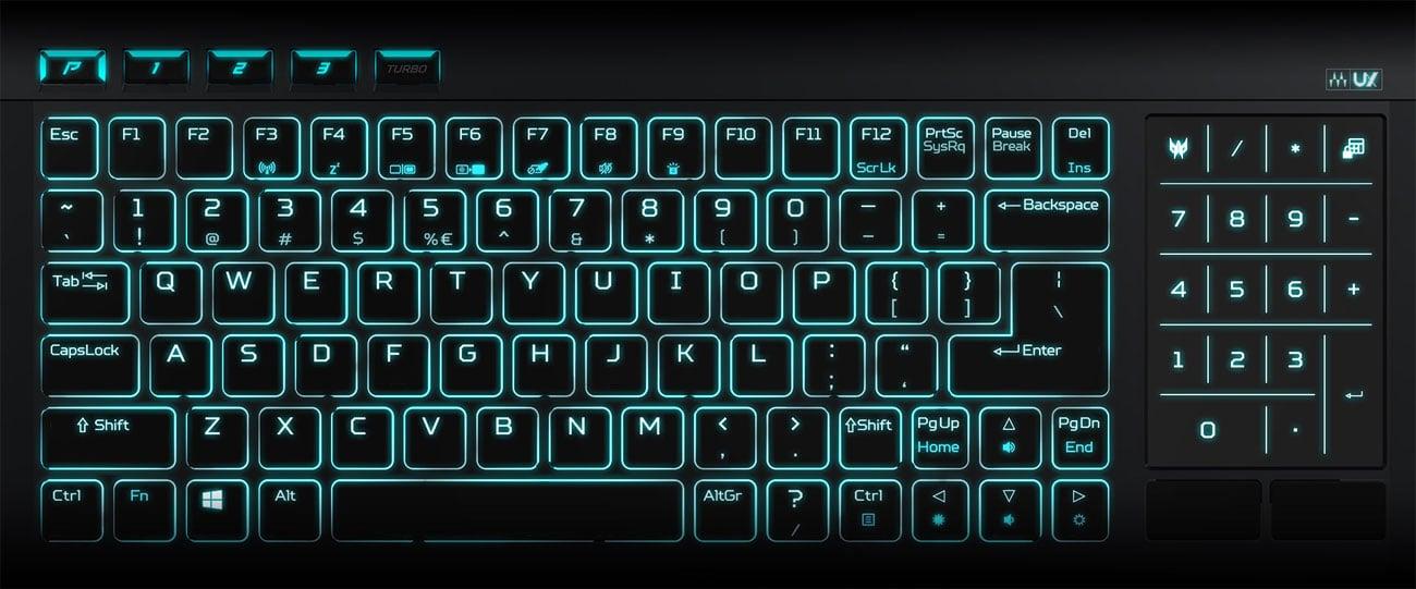 podświetlenie RGB pod każdym klawiszem