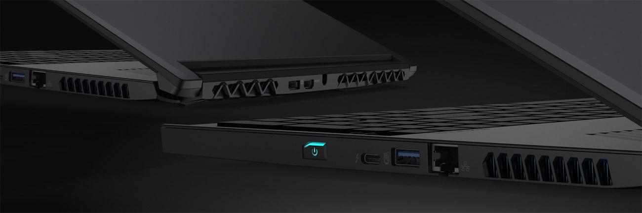 Acer Predator Triton 700 wszystkie potrzebne złącza