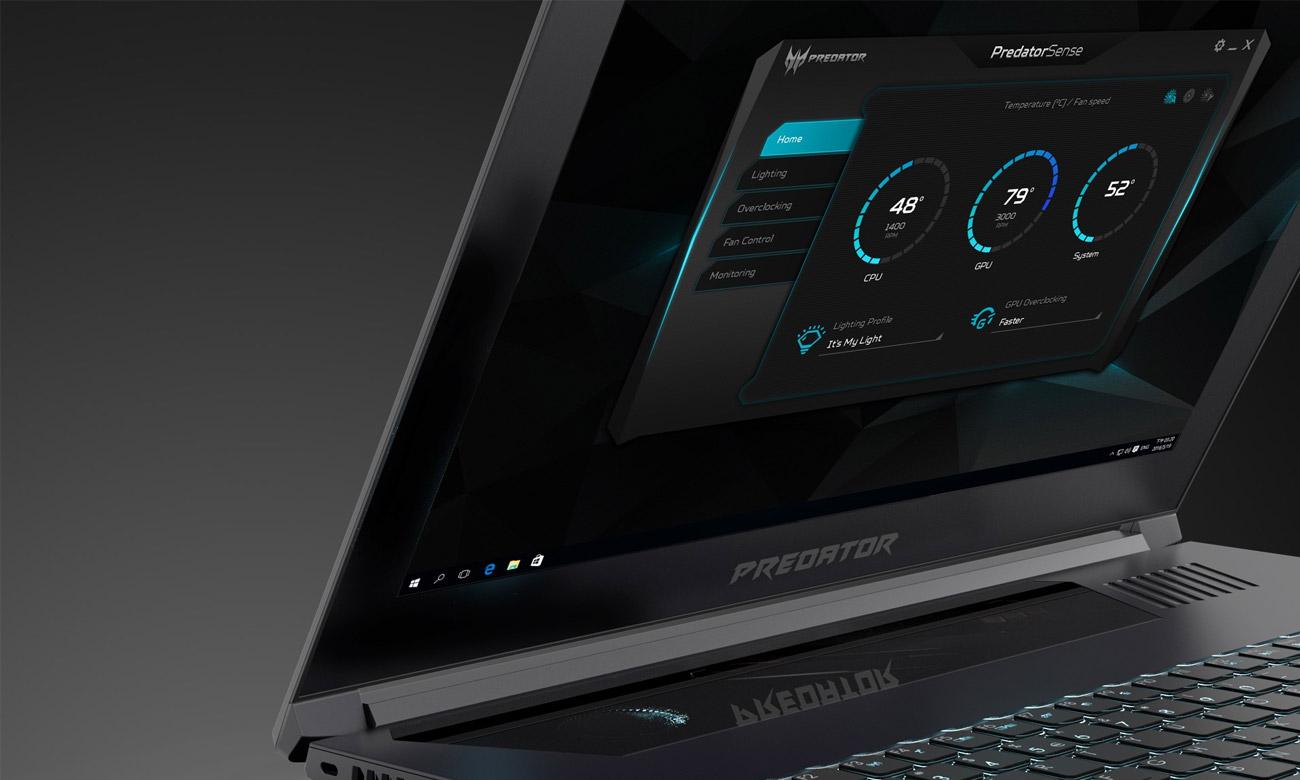Acer Predator Triton 700 oprogramowanie predatorSense
