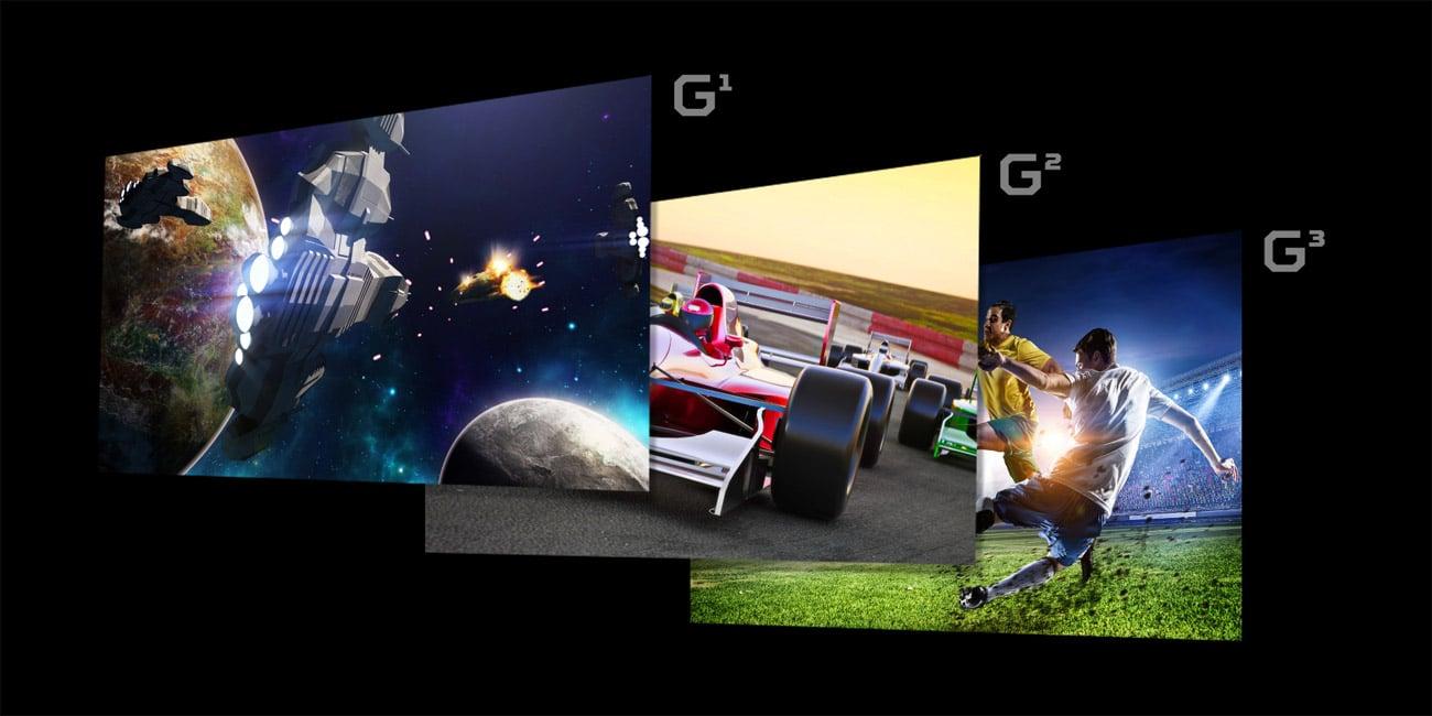 Acer Nitro XV242YPBMIIPRX tryby wyświetlania obrazu