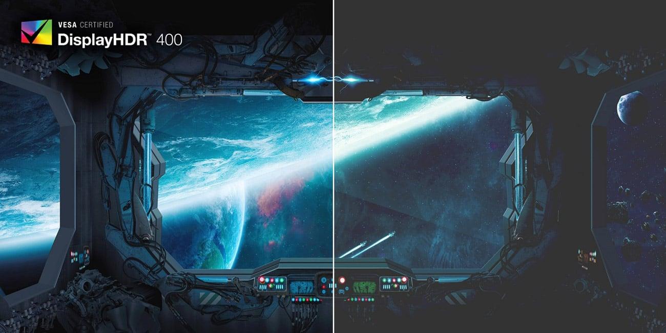 VESA DisplayHDR 400 i zoptymalizowane kolory