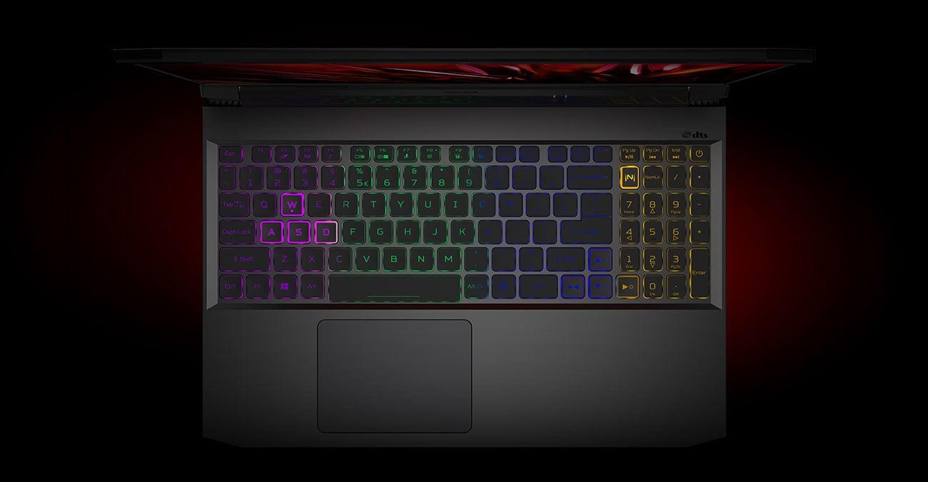 Acer Nitro 5 podświetlana klawiatura