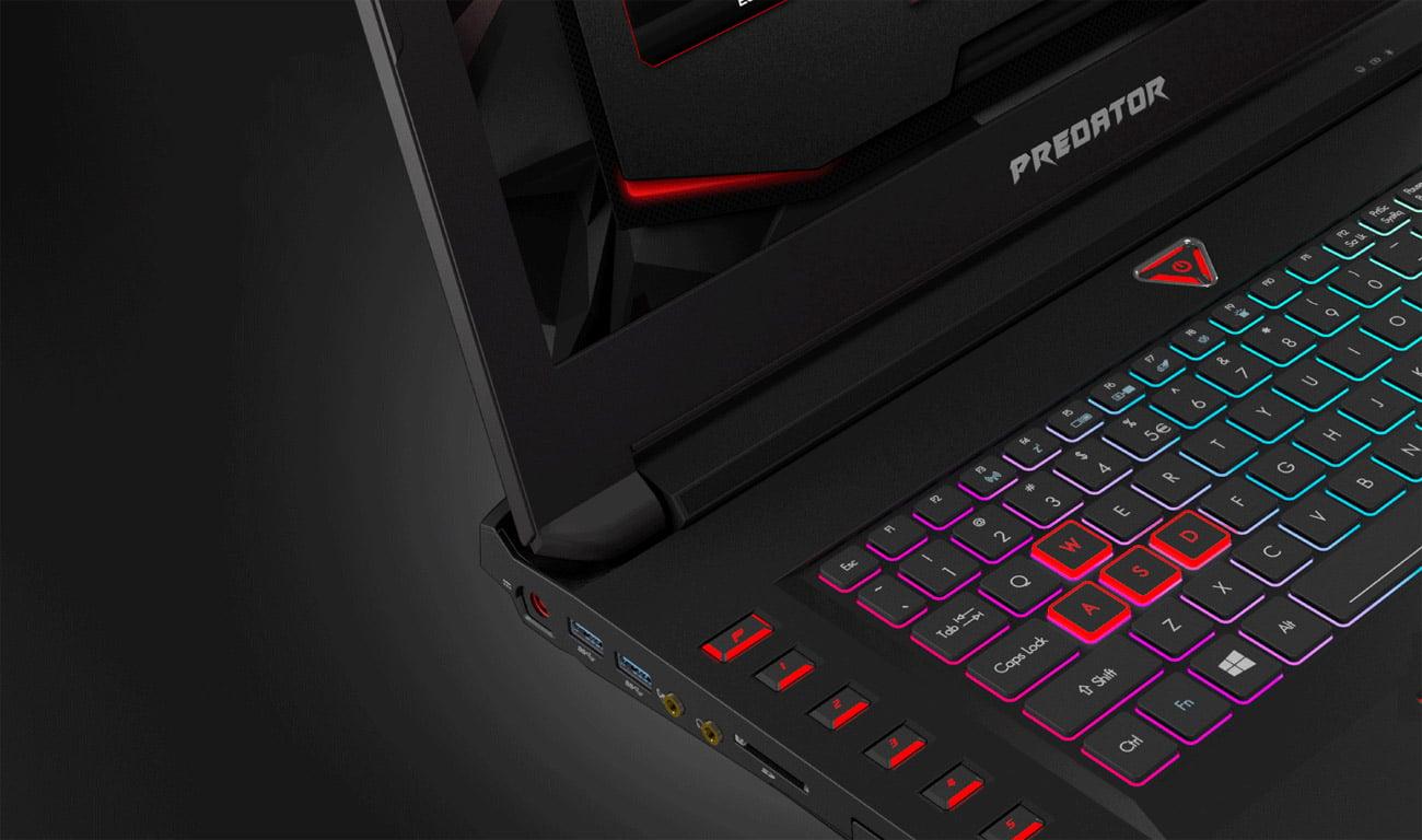 Acer 17X podświetalna klawiatura