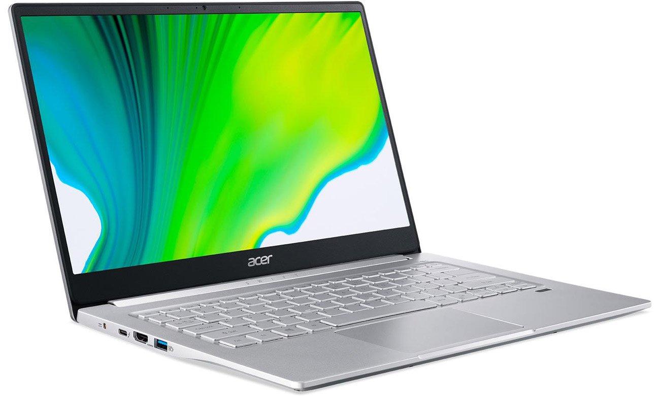 Czytnik linii papilarnych oraz podświetlana klawiatura w Acer Swift 3
