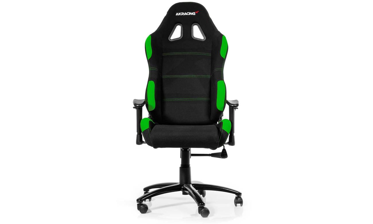 AKRACING Gaming Chair (Czarno-Zielony) widok z przodu