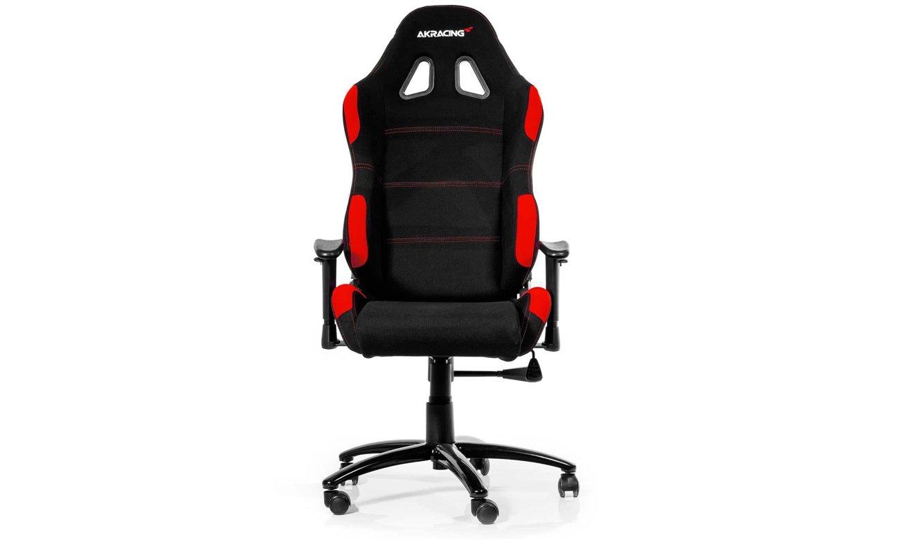AKRACING Gaming Chair (Czarno-Czerwony) widok z przodu