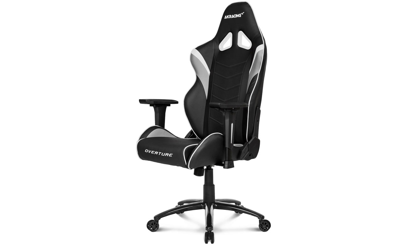 Fotel gamingowy AKRACING Overture (Czarno-Biały) AK-OVERTURE-WT
