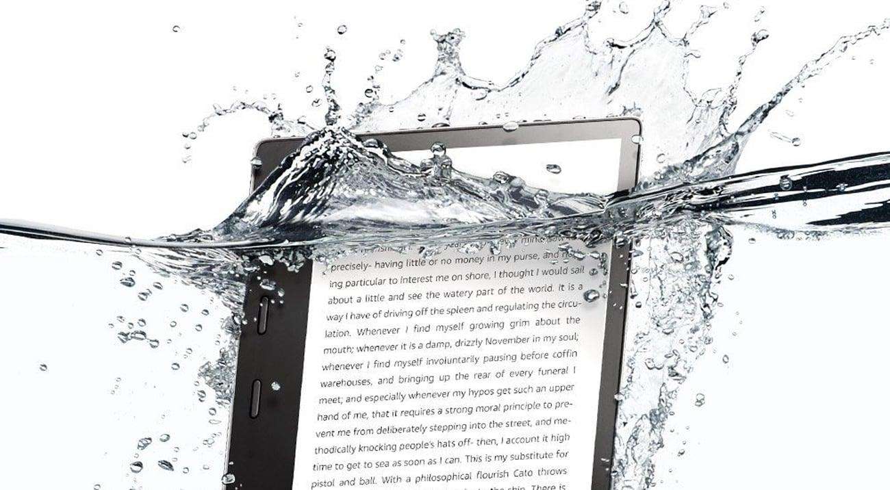 Amazon Kindle Oasis 2 wodoodporna konstrukcja IPx8