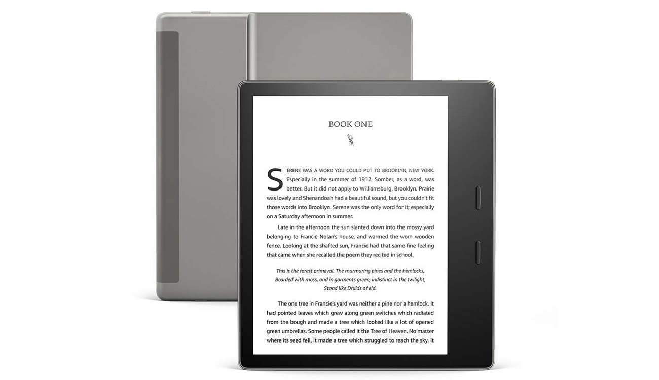 Amazon Kindle Oasis 3 tradycyjna ksiązka z nowymi funkcjami