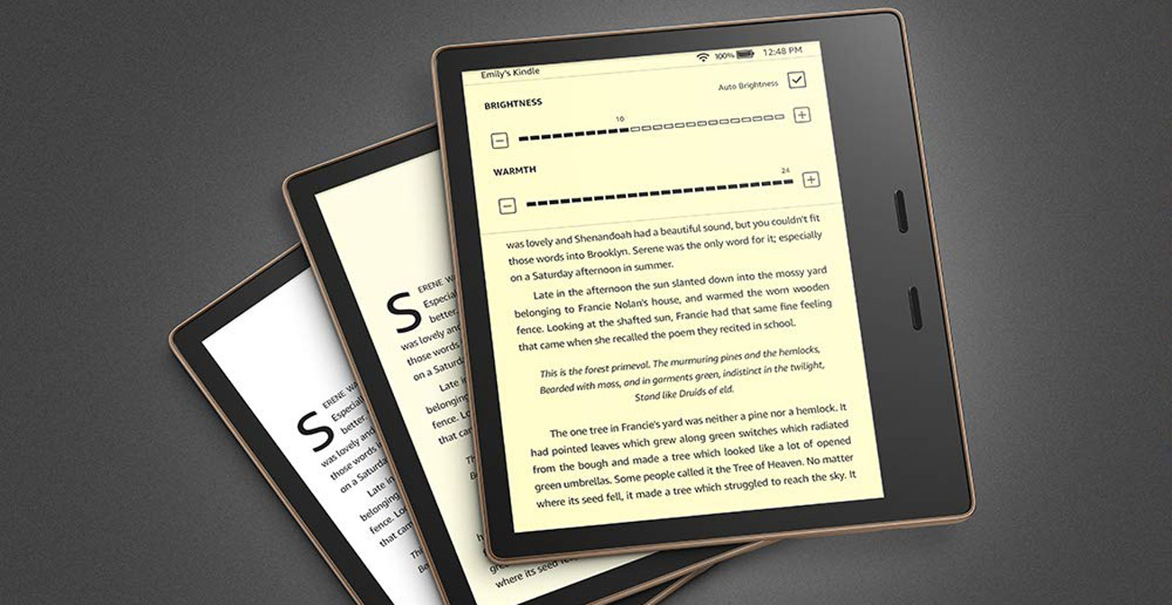 Amazon Kindle Oasis 3 ekran e-ink carta z regulowanym podświetleniem LED