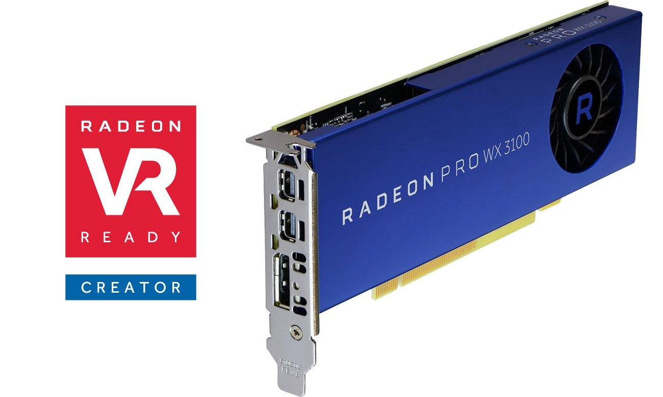 AMD Radeon Pro WX 3100 4GB GDDR5 Radeon VR Ready Creator