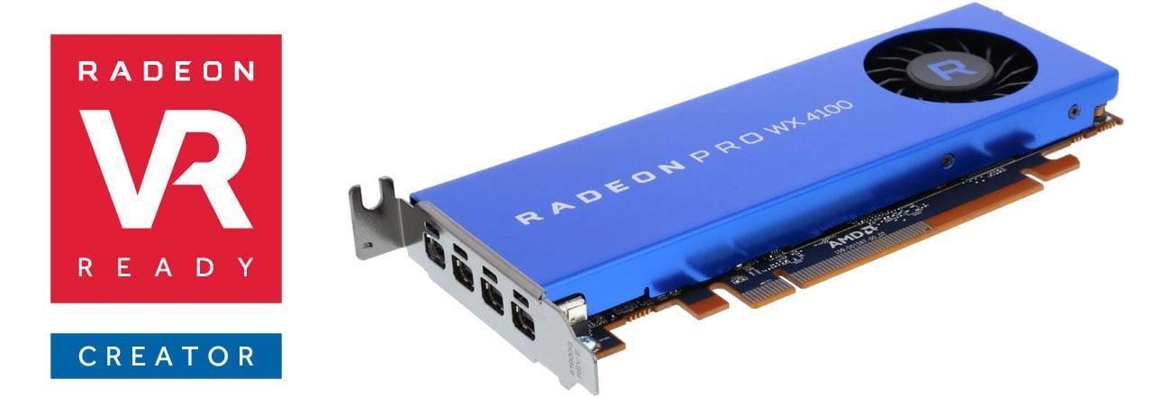 AMD Radeon Pro WX 4100 4GB GDDR5 Radeon VR Ready Creator